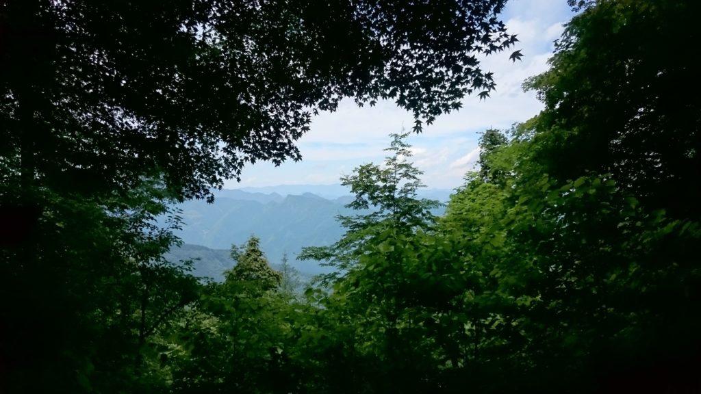 三峯神社 奥宮参道からの風景