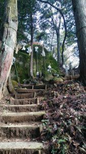 須賀神社 奥宮 夫婦岩 下