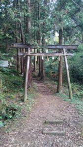 須賀神社 奥宮 鳥居