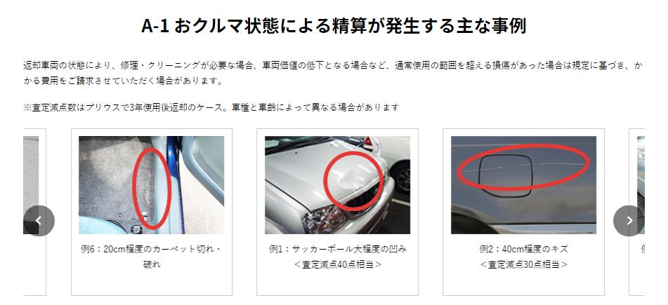 トヨタの車のサブスクリプション(定額制)「KINTO(キント)」、精算が発生する事例
