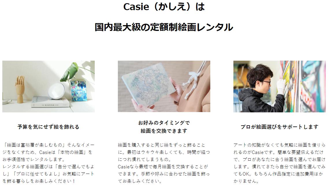 絵画のサブスクリプション(定額制)「Casie(かしえ)」は国内最大級の定額制絵画レンタル