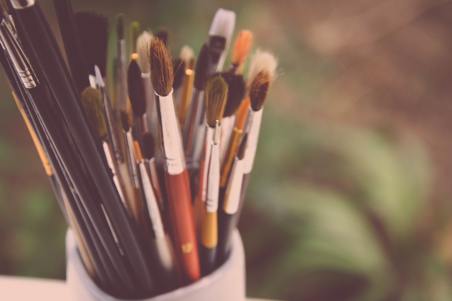 絵画用の筆